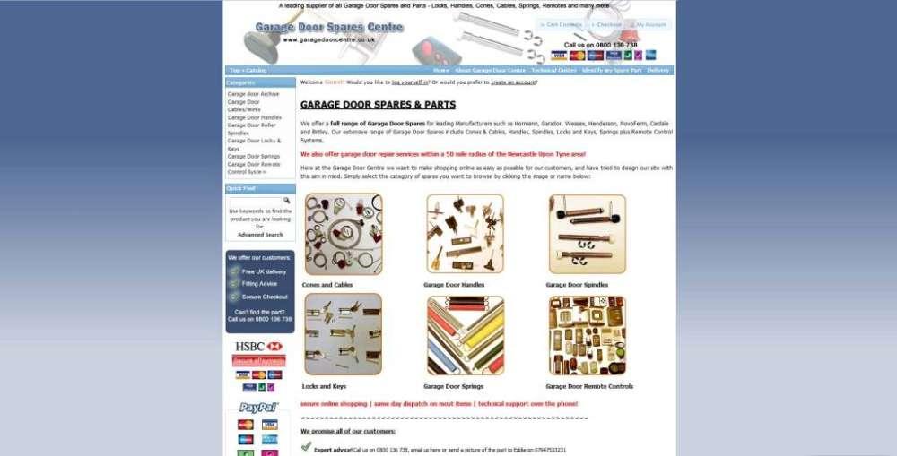 Garage Door Centre Testimonial Identify Web Design